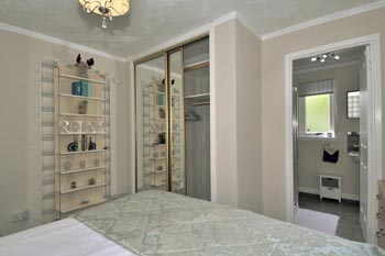 King size bedroom with plenty of wardrobe space